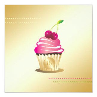 311-Cupcake Paradise Monogram Sweet Sixteen Card