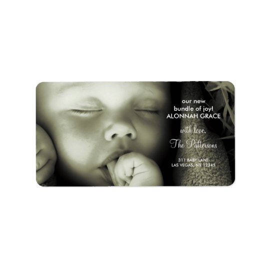 311-Customisable Baby Address Label