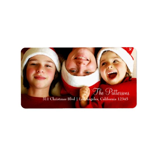 311 Customisable Christmas Photo Label Address Label
