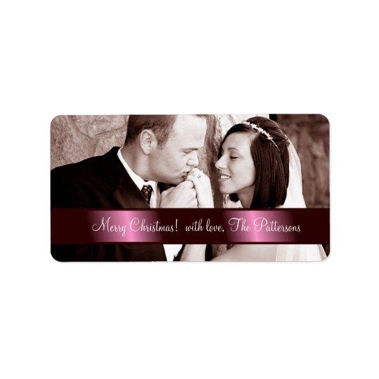 311 Customisable Newlywed Christmas Label