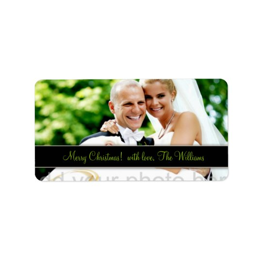 311 Customisable Newlywed Christmas Label Address Label