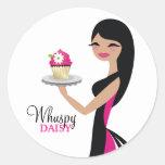 311-Daisy Cupcake Cutie | Straight Brunette Sticker