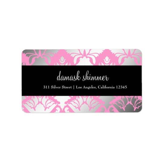 311 Damask Shimmer Pink Label