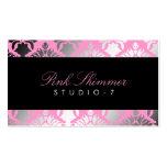 311 Damask Shimmer Pink Plush Black BowCertificate
