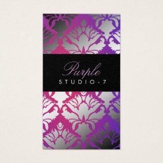 311 Damask Shimmer Purple Radiance Program Business Card