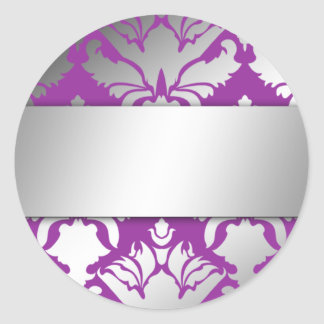 311-Damask Shimmer Purple Sticker