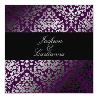 311-Dazzling Damask Blackberry Card