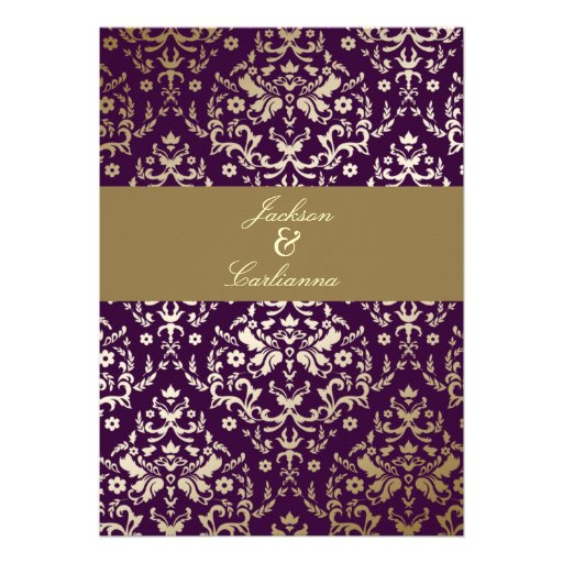 311 Dazzling Damask Gold Ivory Deep Purple Announcement