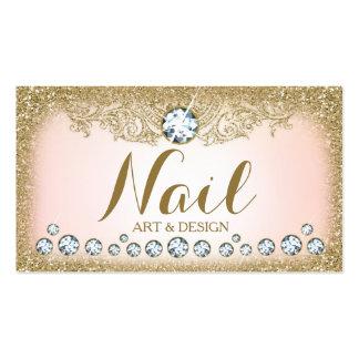 311 Diamond Vintage Glam Gold Glitter Horizontal Pack Of Standard Business Cards
