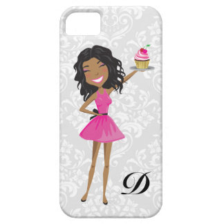 311 Dollface Desserts Hot Pink Ebonie Damask iPhone 5 Cover