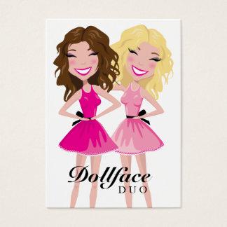 311 Dollface Duo Brunette Blonde Business Card