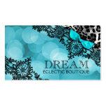 311 Dream in Leopard & Lace Aqua Pearl Paper Pack Of Standard Business Cards