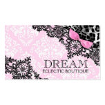 311 Dream in Leopard & Lace Girly Pink Pack Of Standard Business Cards
