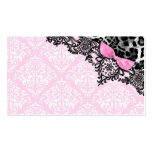 311 Dream in Leopard & Lace Girly Pink Name Card Pack Of Standard Business Cards