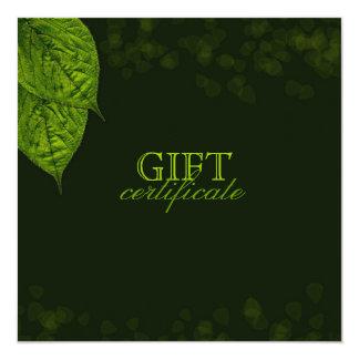 311 Dream Leaf Gift Certificate 13 Cm X 13 Cm Square Invitation Card