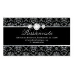 311 Elegant Jewellery Diamonds Silver Black Damask Pack Of Standard Business Cards