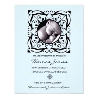 311 EMBELLISHED BABY BOY ANNOUNCEMENT