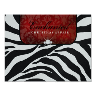 311-Enchanted Red RSVP card Metallic 11 Cm X 14 Cm Invitation Card