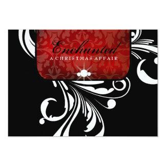 311-Enchanted Red_Swanky Swirls 13 Cm X 18 Cm Invitation Card