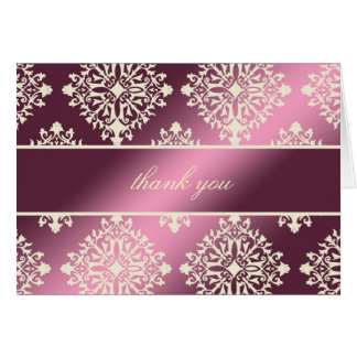 311-Evelina Cream et Maroon Thank you Card
