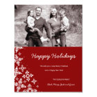 311-Falling Snow | Red Christmas Photo Card