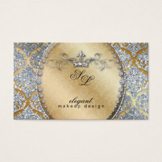 311 Fashion Jewelry Makeup Artist Damask Crown Coo Business Card