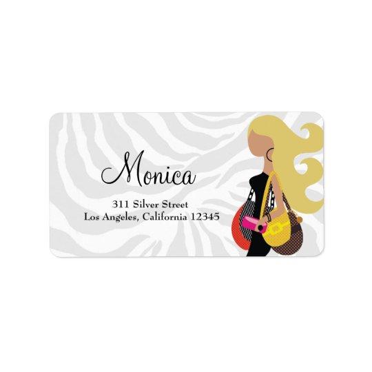 311 Fashionista Blonde Zebra Label