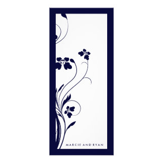 311-Floral High-Rise Program | Midnight Blue Personalized Invitation