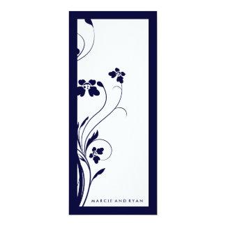 311-Floral High-Rise Program | Midnight Blue 10 Cm X 24 Cm Invitation Card