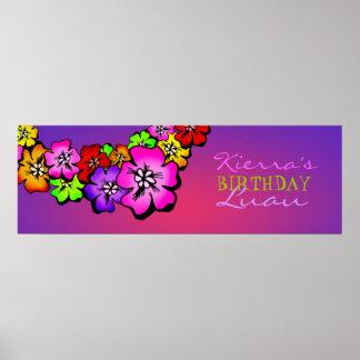 311-Flower Shower Birthday Banner | Sunset Poster