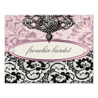 311 Frenchie Boudoir Gift Certificate Metallic 11 Cm X 14 Cm Invitation Card