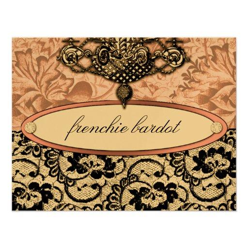 311 Frenchie Boudoir Gift Certificate Metallic Invites
