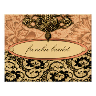 311 Frenchie Boudoir Gift Certificate Metallic Custom Announcements