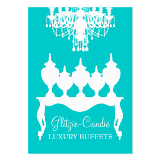 311 Glitzie Candie Turquoise Pack Of Chubby Business Cards