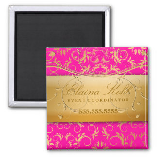 311-Golden diVine Business Magnet Passion Pink
