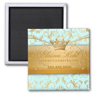 311-Golden diVine Business Magnet Sky Blue