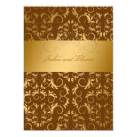 311-Golden diVine | Chocolate 13 Cm X 18 Cm Invitation Card