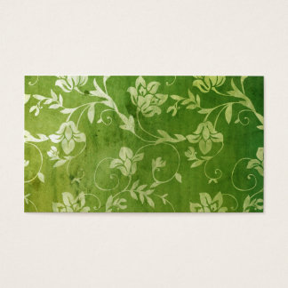 311-Gorgeous Green Floral Vintage Name Card