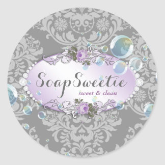 311 Handmade Soap & Bubbles Classic Round Sticker