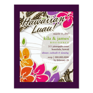 311-Hawaiian Heaven Invitation   Purple