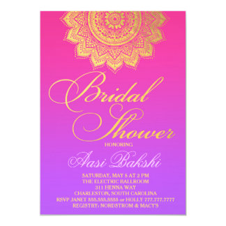 311 Henna Pink Purple Ombre 13 Cm X 18 Cm Invitation Card