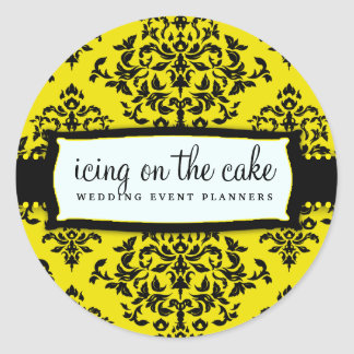 311-Icing on the Cake - Bee Round Sticker
