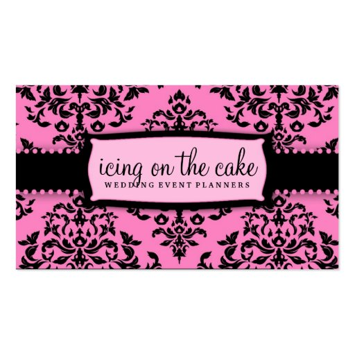 311 Icing on the Cake Pink Liquorice Business Card Templates