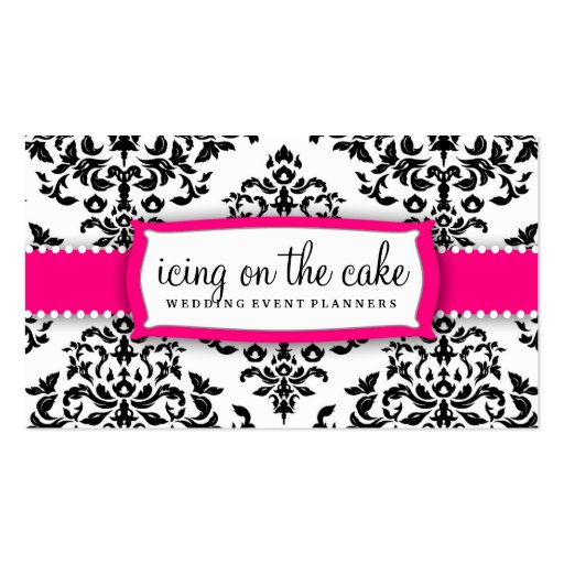 311 Icing on the Cake Strawberry Frosting Business Card Template