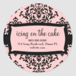311 Icing on the Cake Sweet Pink Round Sticker