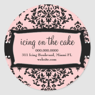 311 Icing on the Cake Sweet Pink Round Stickers