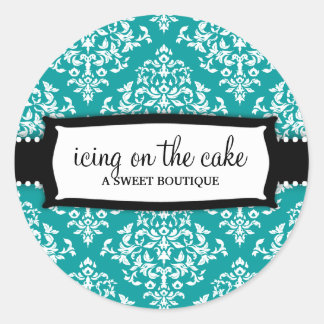 311 Icing on the Cake Teal Round Sticker