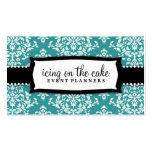 311 Icing on the Cake Teal White Damask