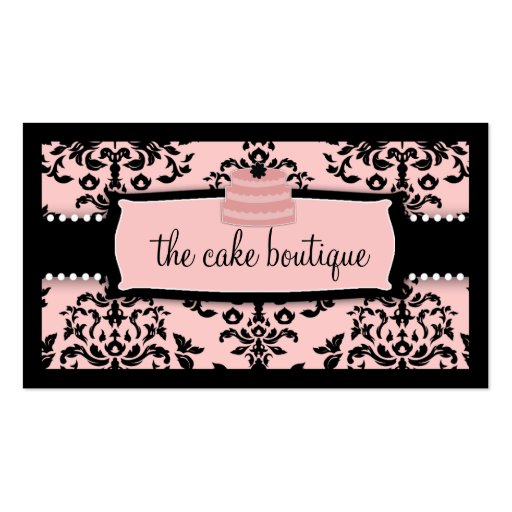 311 Icing on the Cake Tier Sweet Icing Pink Business Card Template