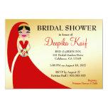 311 Indian Beauty Bride 13cm X 18cm Invitation Card